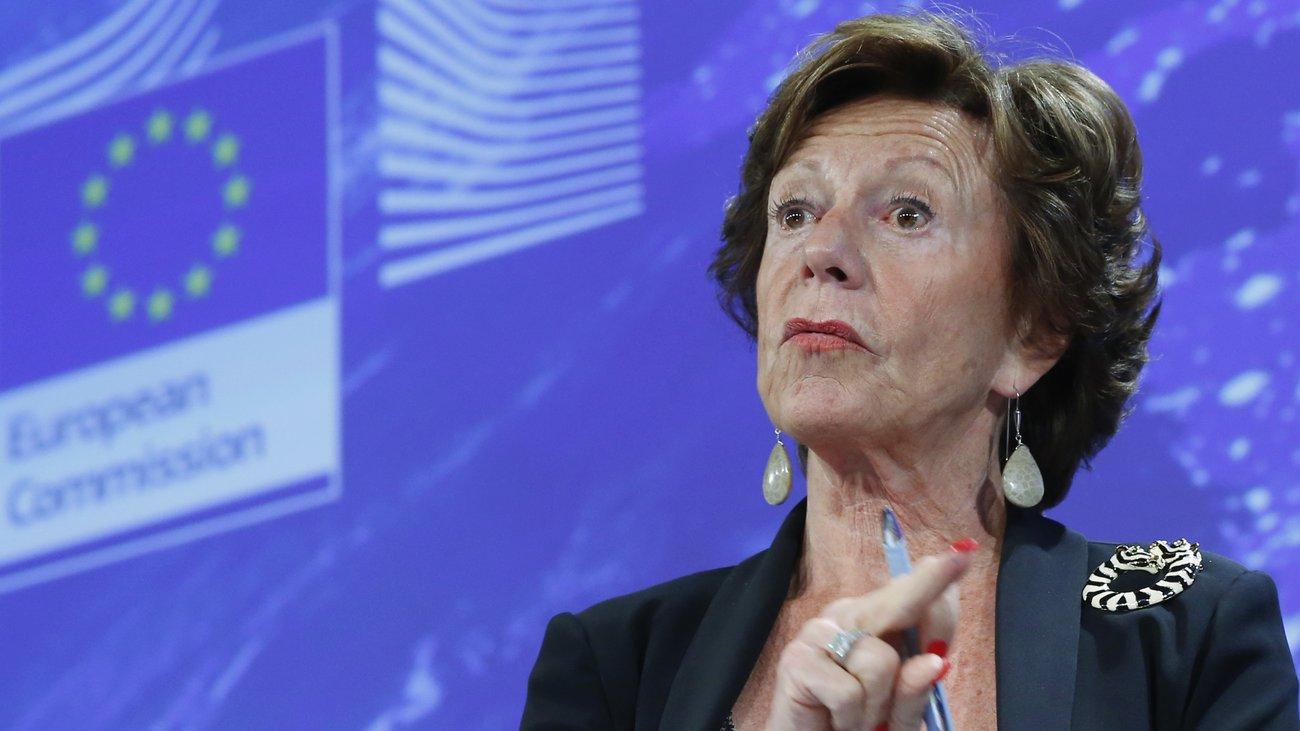 Neelie Kroes, l'ex vice-Présidente de la Commission européenne, aurait été administratrice d'une société offshore cachée. (photo AFP)