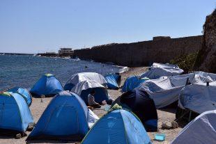 Des migrants en Grèce. (Photo : AFP)
