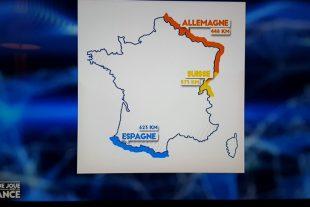 La Belgique et le Luxembourg ont tout simplement disparu sur la carte diffusée par France 2 ! (capture vidéo)