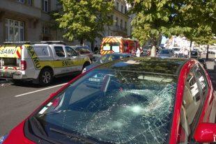 Le choc a été tel que la victime a été projetée de l'autre côté de la chaussée. (photo RL / Gilles Wirtz)