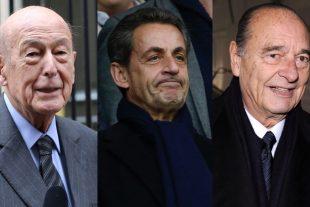 A eux trois, Valéry Giscard d'Estaing, Nicolas Sarkozy et Jacques Chirac coûtent plus de neuf millions d'euros par an à l'État français. (Photo AFP)