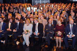 La Chambre a fêté son anniversaire devant un public de forces vives formé par les entrepreneurs, les politiques et les officiels du pays, dont la Grande-Duchesse Maria Teresa, accompagnée du couple grand-ducal héritier. (photo Hervé Montaigu)
