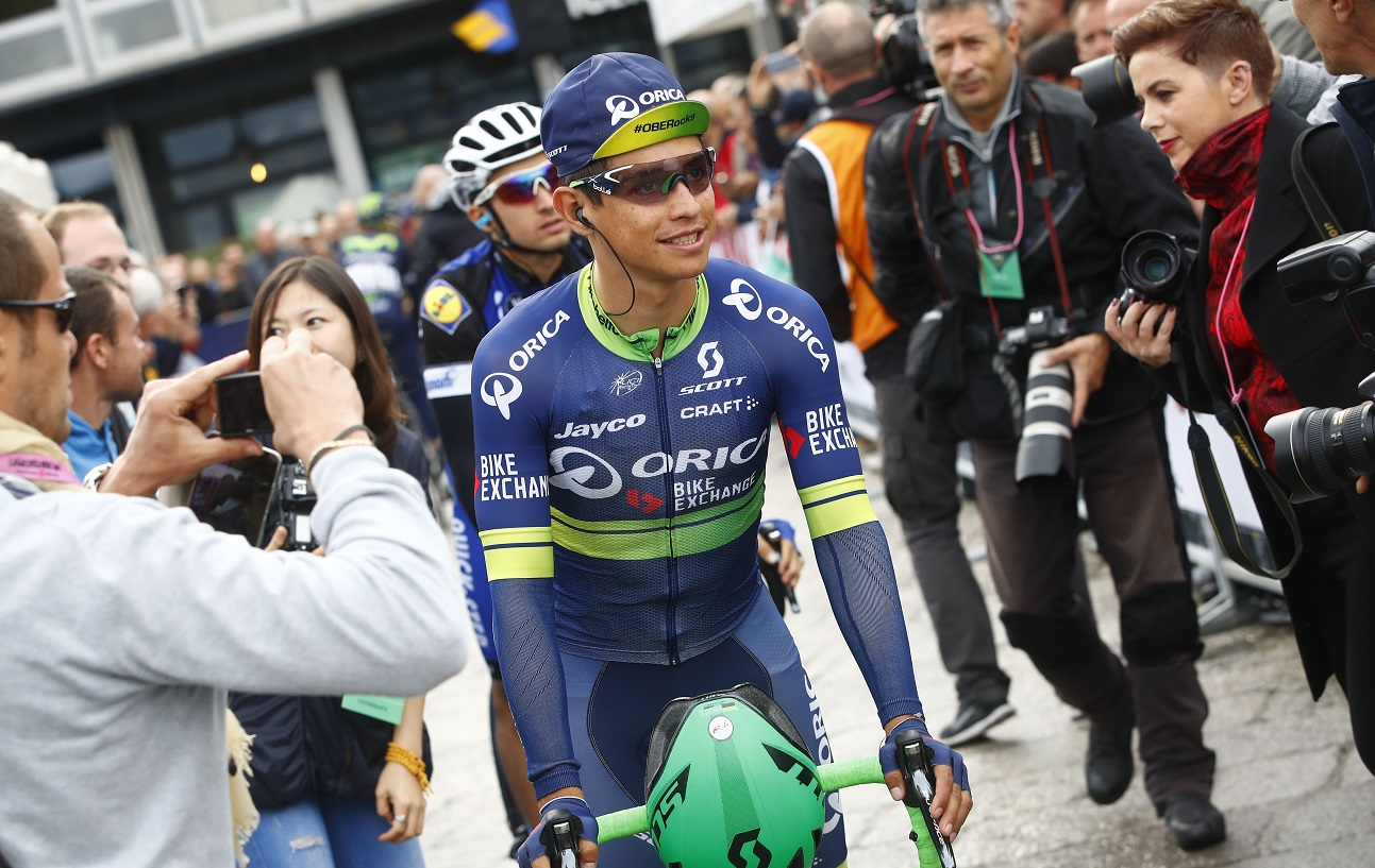 Esteban Chaves est le premier Colombien à s'imposer sur le Tour de Lombardie en 110 éditions. (Photo AFP)