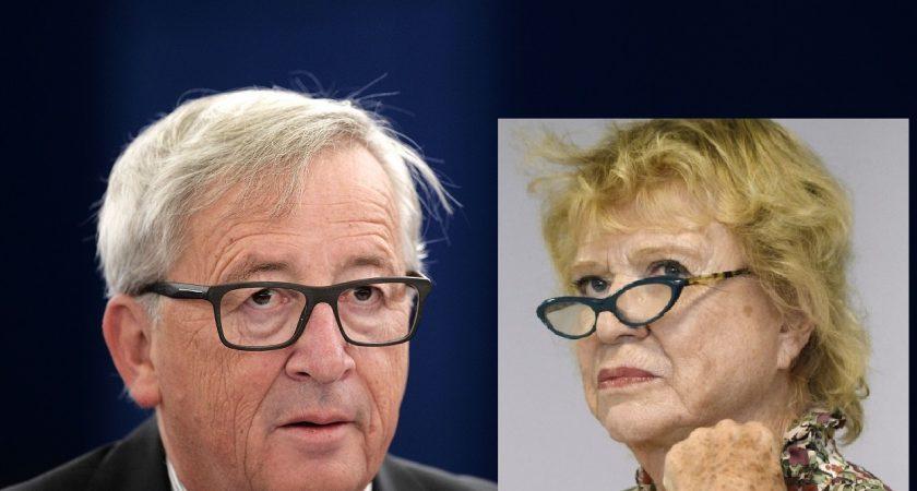 """Eva Joly veut la tête de Jean-Claude Juncker et saisira """"la première occasion"""" pour l'avoir. (photos AFP)"""
