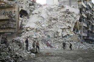 À Alep, le 17 octobre 2016. (photo AFP)