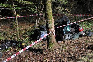La victime, de nationalité portugaise et résidant en Belgique, est décédée sur les lieux de l'accident. (photo police grand-ducale)