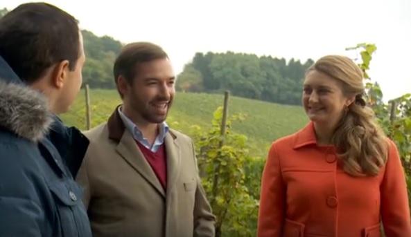 Le couple grand-ducal héritier a sillonné le pays pour faire découvrir les charmes du Luxembourg à nos voisins belges. (capture vidéo RTL TVI)