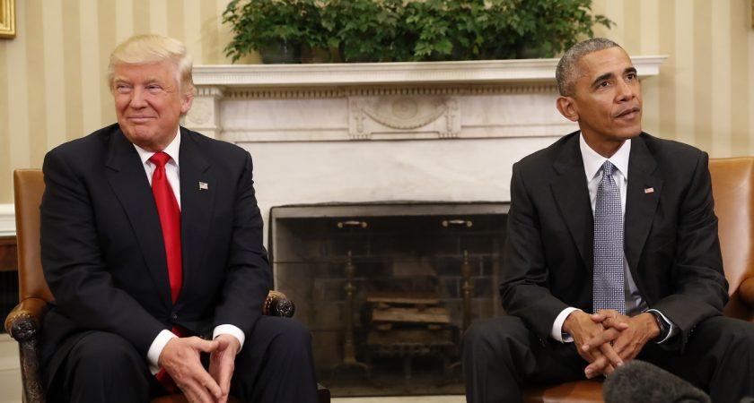 Barack obama a reçu donald trump dans le bureau ovale