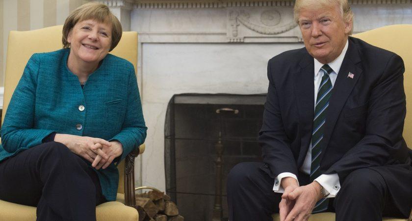 Trump face à merkel à la maison blanche : limmigration est « un