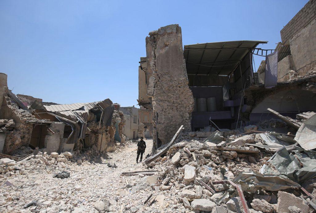 Irak : La Grande mosquée al-Nouri de Mossoul détruite