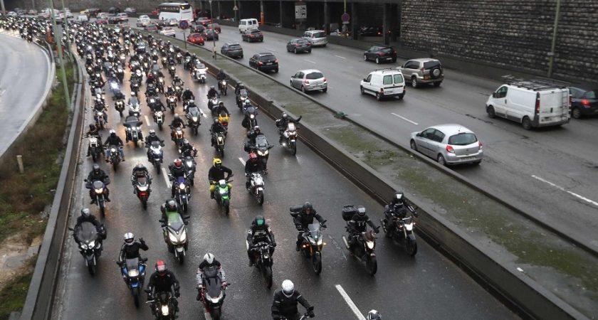 Limitation de vitesse à 80km/h : les motards du Calvados manifestent