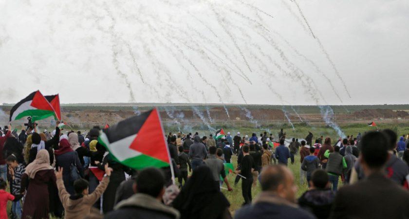 Les manifestations de vendredi ont été durement réprimées par l'armée israélienne (Photo : AFP).