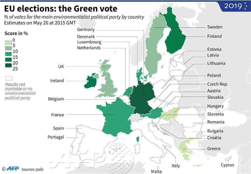 [Cartes] Les Couleurs Du Futur Parlement Européen