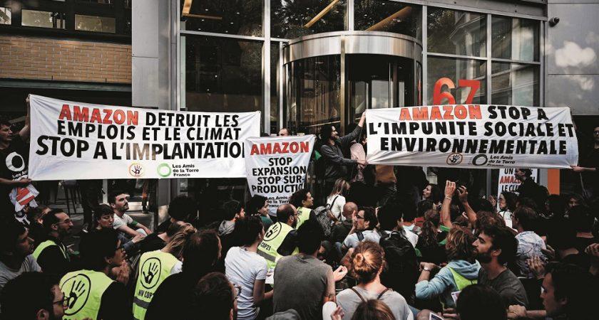 Le site toulousain d'Amazon bloqué par des manifestants — Climat