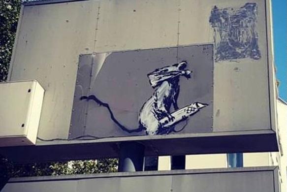 Une oeuvre de Banksy dérobée aux abords du Centre Pompidou